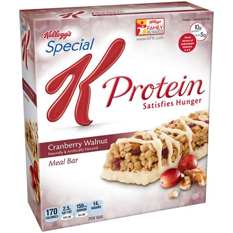 k protein satisfies hunger longer special k protein meal bars cranberry walnut 1 59 ounce