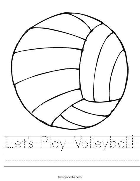 printable volleyball worksheets let s play volleyball worksheet twisty noodle