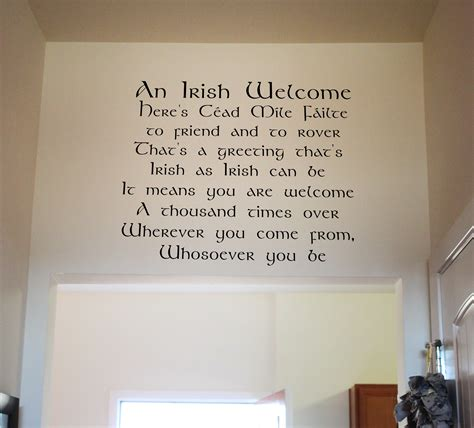 wall stickers ireland welcome wall decal trading phrases