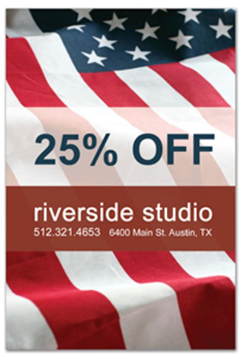 Small Business Marketing Plan And Ideas American Flag Flyer Template