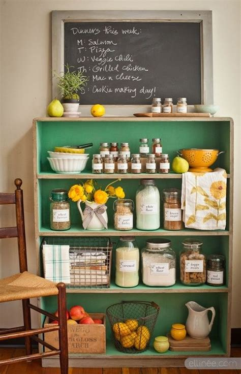 Kitchen Bookcase Ideas - 20 best diy kitchen upgrades inspiration wire baskets