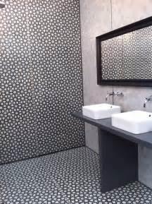 Hand Painted Tiles For Kitchen Backsplash monochrome moroccan style bathroom tiles home