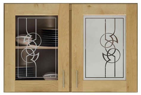Modern Scroll 284 Cabinet Glass   Sans Soucie Art Glass