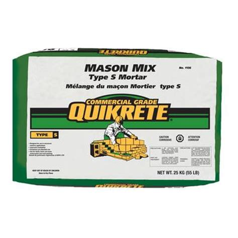 Quikrete Countertop Mix Price by Quikrete Mix Type S 25kg Home Depot Canada Ottawa