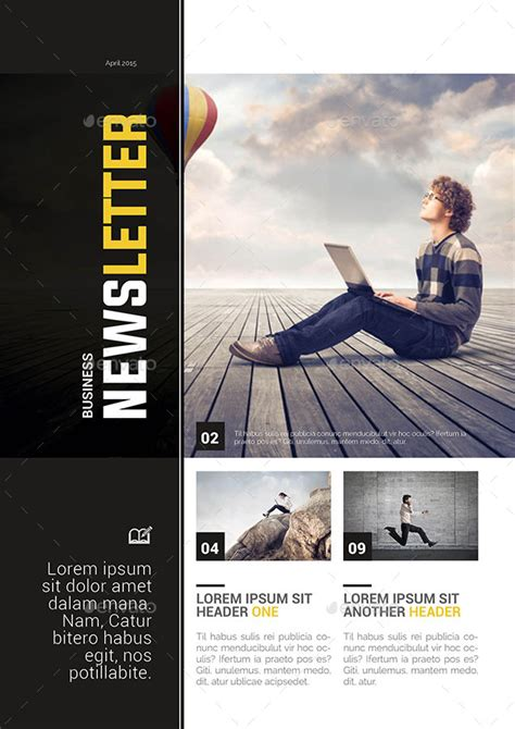 business newsletter template by spidergraph graphicriver