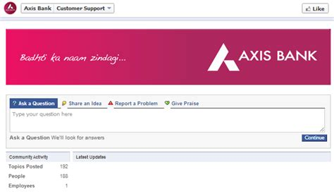 axix bank app axis bank opens customer support on
