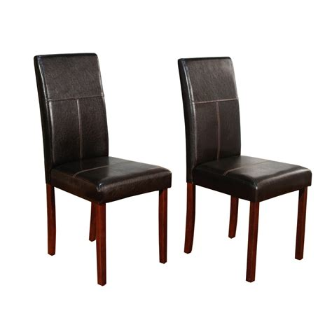 Dining Room Parson Chairs Parsons Chairs Moeu0027s Home Collection Parson Chairs In Brown Set Of Brown Parsons Chair