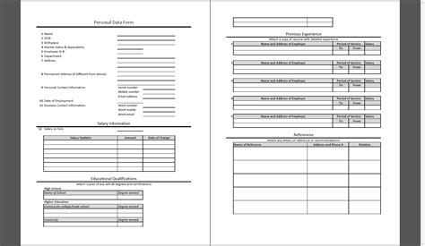 employee personal data form template mis report formats a review on writing reports for mis