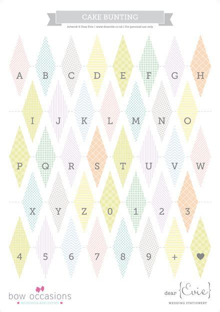 printable mini alphabet bunting 65 free wedding printables for the diy lovers cakes