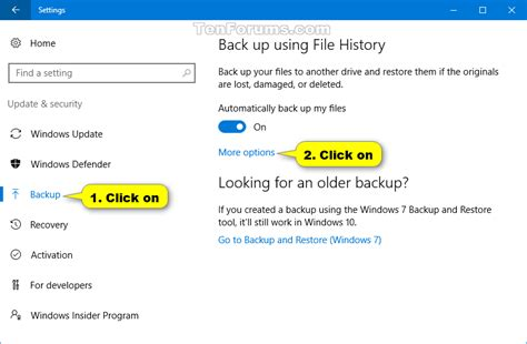 windows 10 backup and restore tools how to use file history