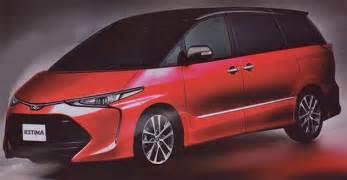 toyota estima 2016 2016 toyota previa estima facelift new interior pics