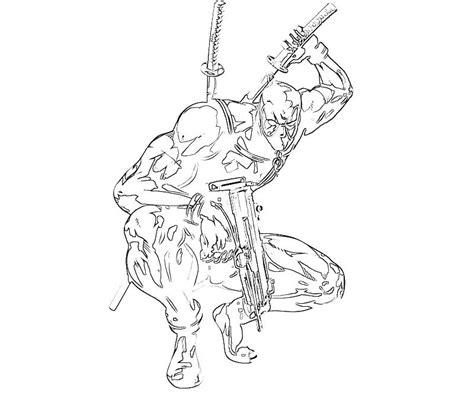 marvel deadpool coloring pages marvel vs capcom deadpool fight yumiko fujiwara