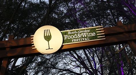 Busch Gardens Sweepstakes - busch gardens food and wine festival to offer meatloaf and lynyrd skynyrd