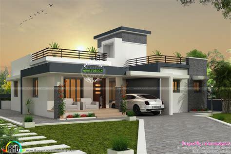 bhk contemporary box type home kerala design  floor