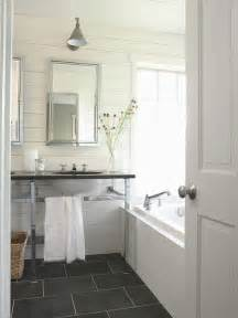 slate tile bathroom ideas slate floor bathroom cottage bathroom bhg