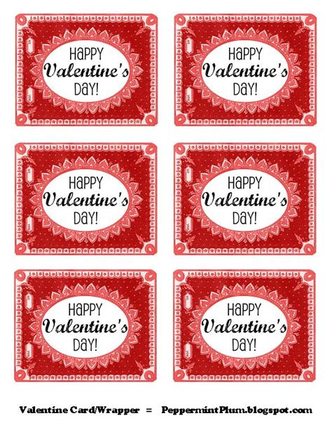 printable labels valentines peppermint plum printable valentine tags