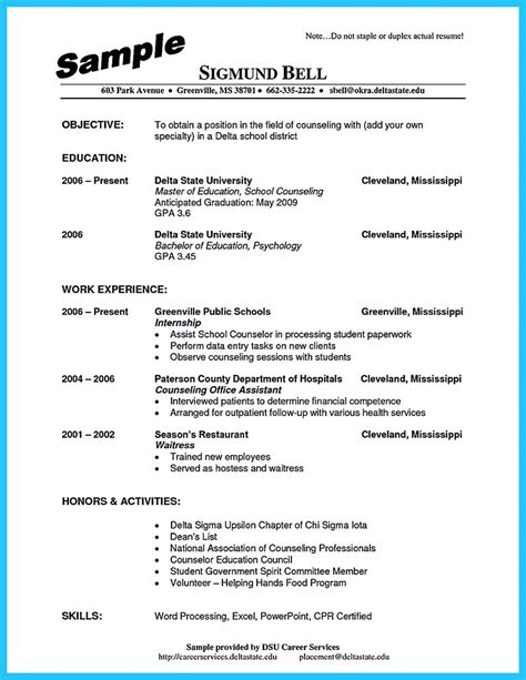 School Counselor Resume by Outstanding Counseling Resume Exles To Get Approved