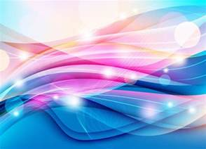 colorful wave on light background vector graphic free