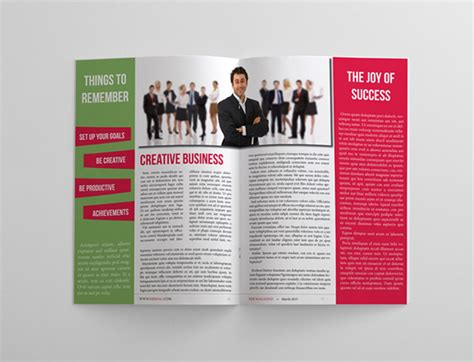corporate magazine template 24 pages business magazine template on behance