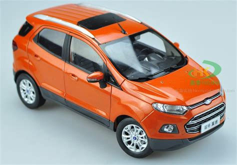 Ford 2011 Car Model In Scale 1 18 Purple 1 1 18 scale model ford ecosport suv original diecast model car gifts toys collectibles