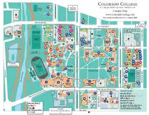 map of colleges in colorado colorado college cus map my