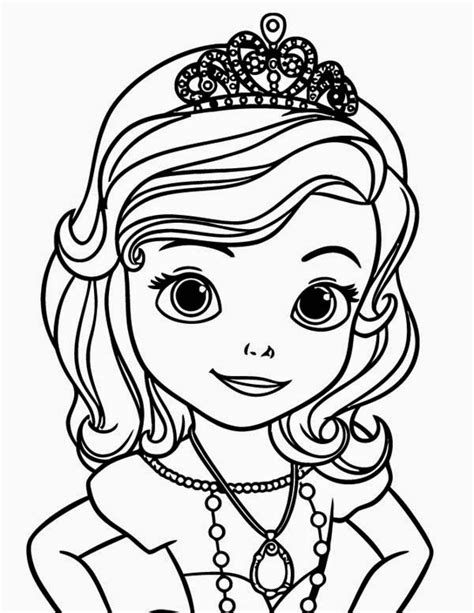 princess sofia coloring page free sofia the first fun learn free worksheets for kid ภาพระบายส โซเฟ ย