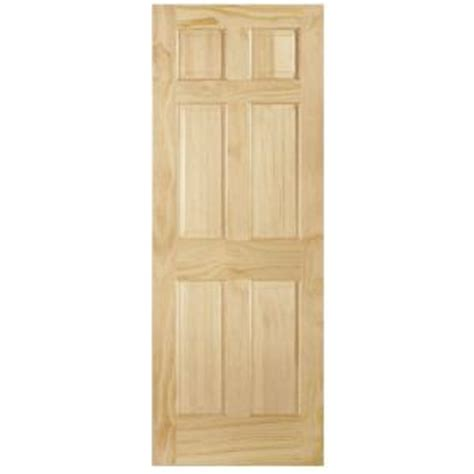 home depot solid core interior door steves sons 6 panel single hip unfinished solid core pine interior door slab pin909031 the