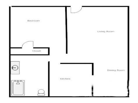 1 Bedroom 1 Bath Floor Plans | 1 bedroom house floor plans 3 bedroom house 1 bedroom 1