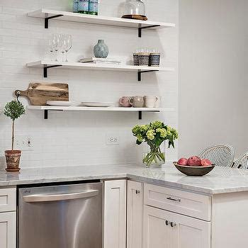 stacked wood kitchen shelves with iron brackets white shelves with chrome brackets design ideas