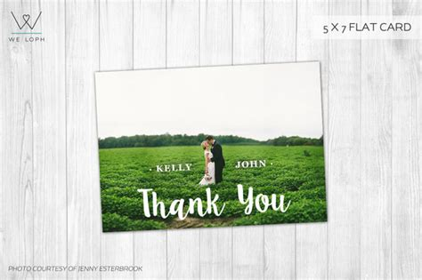 Free Wedding Thank You Card Template Photoshop by Thank You Card Wedding Template Card Templates On