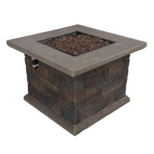 Bond Firepit Bond Manufacturing Corinthian 34 In Square Envirostone Propane Pit 66596 The Home Depot