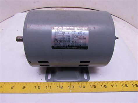 three phase induction motor hitachi hitachi efou kt 1ph single phase induction motor 100 110v 1440 1740 rpm 1 4hp ebay
