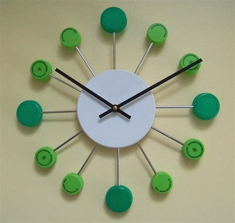 clock made of clocks clockpops colorful retro clocks made from recycled