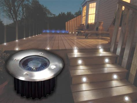 solar powered decking lights 2 6 10 bright white led solar powered garden decking deck