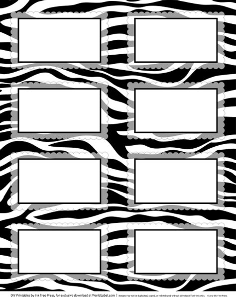Zebra Border Template Cliparts Co Zebra Label Templates