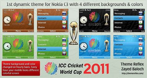 themes nokia 206 cricket cricket world cup 2011 theme for nokia x2 01 c3