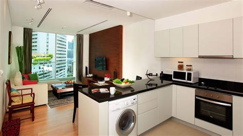 bedroom and kitchen shama sukhumvit bangkok one bedroom apartment