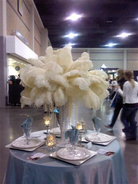 feather plume centerpieces need advice plume and pearl centerpiece weddingbee photo gallery