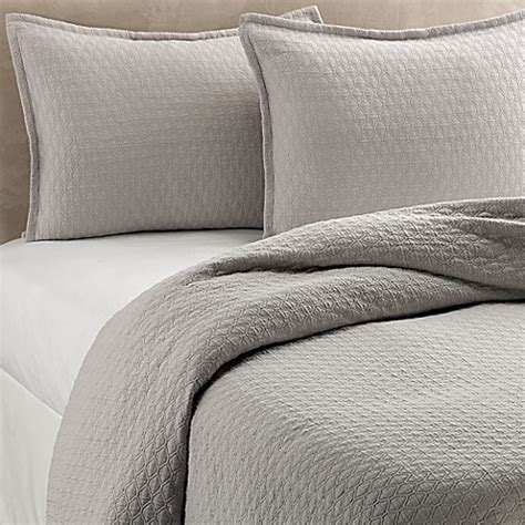 diamond coverlet vera wang puckered diamond matelass 233 coverlet in steel