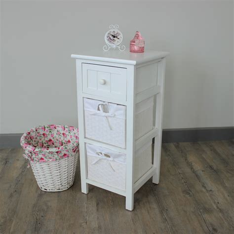 white cabinet with 2 baskets melody maison 174