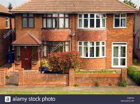 house bay windows semi detached house bay windows 1930s ipswich suffolk england stock photo royalty