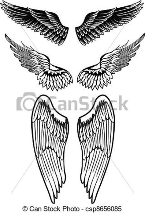 imagenes vectoriales alas clipart vectorial de alas vector imagen conjunto alas