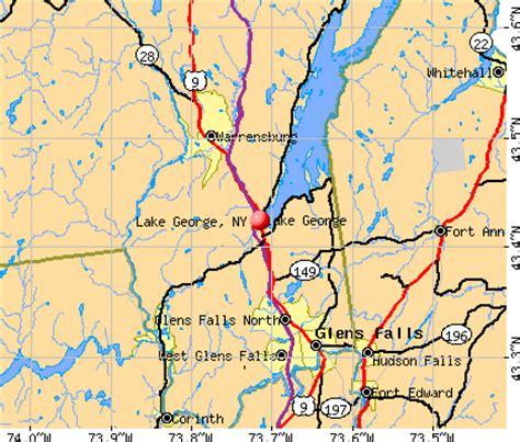 map of lake george ny lake george new york ny 12845 profile population maps