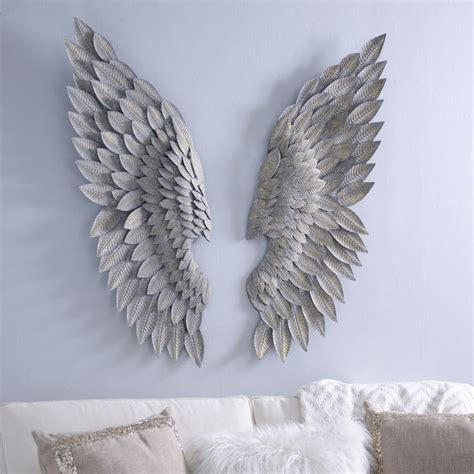 ideas  angel wings wall decor  pinterest