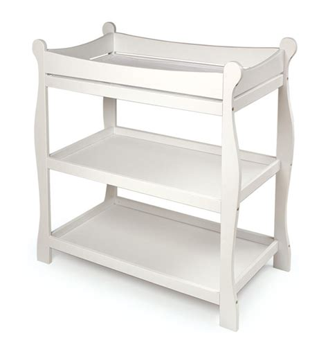 white change table white sleigh changing table baby center ameriprod
