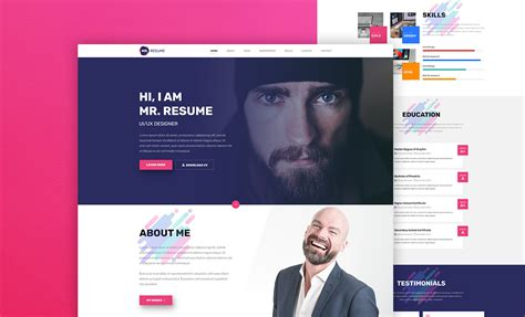 mr resume web template free resume template
