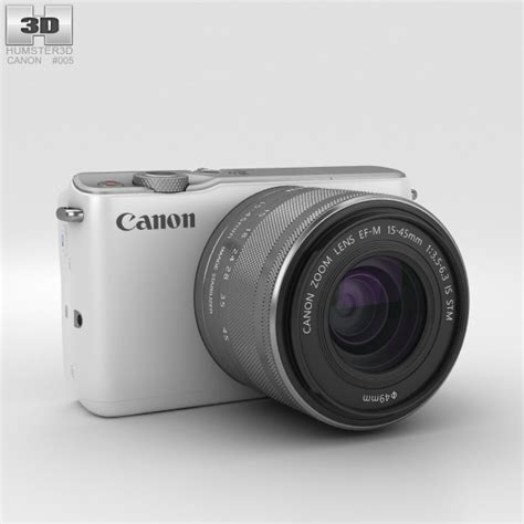 canon model canon eos m10 white 3d model hum3d