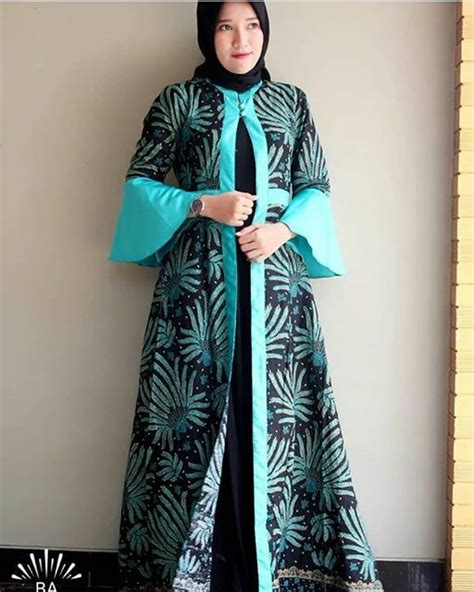 Gamis Bolero Batik Gbl 35 model baju gamis batik terpopuler 2018 model baju muslim kebaya modern 2018