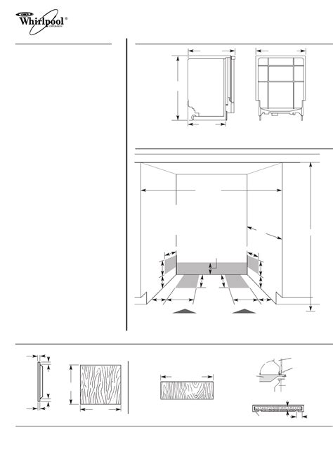 cabinet opening for dishwasher whirlpool dishwasher du945pws user guide manualsonline com