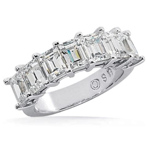 7 emerald cut anniversary ring 0 20 ct each 1 40 tcw